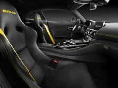 AMG GT R; 2016; Studio; Interieur: Leder Nappa/Mikrofaser Dinamica Schwarz, AMG Sportsitze ;Kraftstoffverbrauch kombiniert: 11,4 l/100 km, CO2-Emissionen kombiniert: 259 g/km AMG GT R; 2016; studio; Interior: nappa leather / DINAMICA microfibre upholstery, AMG sport seats; Fuel consumption, combined: 11.4 l/100 km, CO2 emissions, combined: 259 g/km
